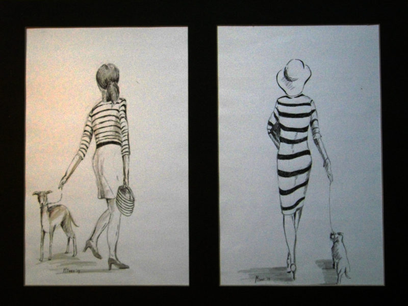 honden en streepjes